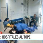En el piso permanecen decenas de pacientes del hospital de Meissen en Bogotá. Sobrecupo supera el 50% de capacidad. https://t.co/HrLq6MO8IB