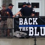 """Happening now: people are gathering around the Union Co Courthouse to """"Back to Blue"""" @14News https://t.co/vI1HszfQIq"""