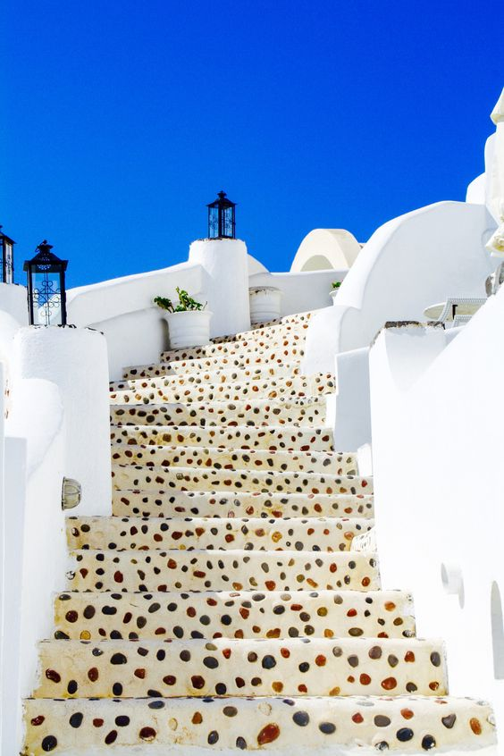 Loving these steps in Oia, Santorini, Greece.