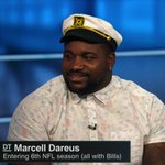 .@buffalobills DT @marcelldareus brought his sailor hat to NFL Live. https://t.co/pi5OkF8Jy8