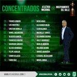 Lista de concentrados para la gran Final de la Copa Libertadores. #VamosNacional #QueremosLaCopa https://t.co/4WiVWxVJy1