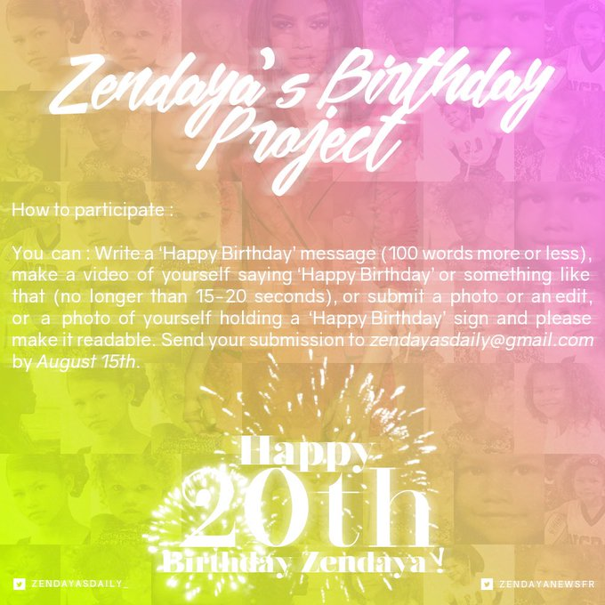 Zswaggers or anybody who loves and want her be happy in her bday join us in this project