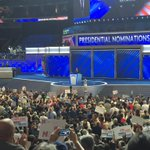 """Delegates go wild for @repjohnlewis on @HillaryClinton """"shattering the glass ceiling again"""" https://t.co/pfLW86zpLS"""
