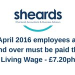 Dont forget the #LivingWage is now in effect! It is compulsory for all employees 25 and over! #Biz #Huddersfield https://t.co/9UfhtJx1Bb
