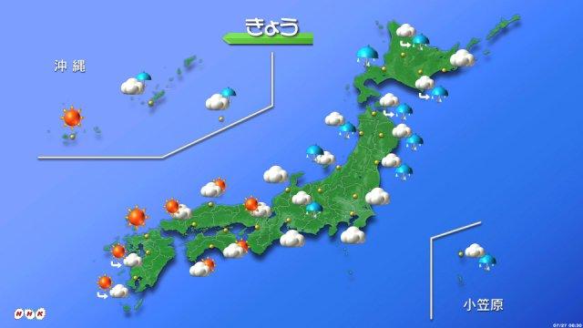 【きょうの天気は?】 北海道は曇りや雨の一日になる見込みです。東北や北陸、関東、東海も雲が多く、日本…