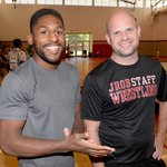 Athletes learn from a #Champion as @nahshongarrett teaches #Chico #wrestling #Camp #Tuesday https://t.co/uUDJEW4fdR