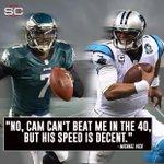 Michael Vick, 36, says that he could still beat Cam Newton in the 40-yard dash. https://t.co/ocP4V5FMFM https://t.co/reqHqQv09b