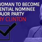 BREAKING: Hillary Clinton becomes first woman to become the presidential nominee of a major party in the U.S. https://t.co/cirAXHfjwn