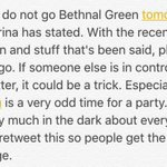 """This is sketch as hell. DO NOT GO TO THIS. 6:30AM is not """"party time"""" Pass this along. #Savemarinajoyce https://t.co/hrQH7LwBrq"""