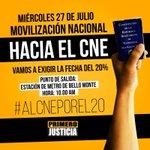 El CNE se burla constantemente de los venezolanos. Mañana exigiremos respeto a la Constitución #AlCNEPorEl20 https://t.co/mQYrotQMP1