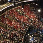 #BernieOrBust delegates staging a walkout after #BernieSanders called on a voice vote to nominate HRC. #DNC https://t.co/ktNNC5mWbI