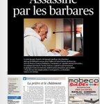 """Noticia """"del montón"""" en noticieros uruguayos : Tapa del diario parisino Le Figaro, de mañana miércoles https://t.co/zGX0Mt0rnA"""