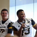 .@SouthernMissFBs Nick Mullens and Picasso Nelson Jr. entertaining the audience. Naturals on stage! #SMTTT https://t.co/QjD65q3OyH