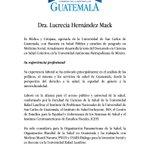Presidente @jimmymoralesgt nombra a la Dra. Lucrecia Hernández Mack como nueva ministra de Salud Pública. https://t.co/KDmLlt6r8q