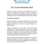 Presidente @jimmymoralesgt nombra a la Dra. Lucrecia Hernández Mack como nueva ministra de Salud Pública. https://t.co/5pf4tTVfZK