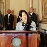 Presentan a Lucrecia Hernandez Mack como nueva Ministra de Salud. Fotos/ José Luis Pos https://t.co/QtSVfkpFOK