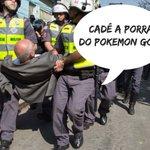 Protesto contra reintegração? Eis o verdadeiro motivo que #Suplicy foi preso! #PokemonGo cadê você?! 😭 😭 😭 😭 https://t.co/8Itvp57LHk