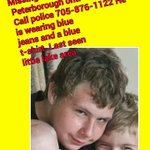 My son is  missing He is wearing blue jeans and a blue t-shirt. Last seen little lake area Ptbr Ont https://t.co/xKEsPQf81g