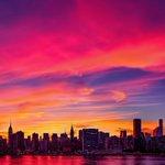 Sweeping pink #sunset sky tonight in #NYC. #NewYork #NewYorkCity https://t.co/6L5WvZBI17
