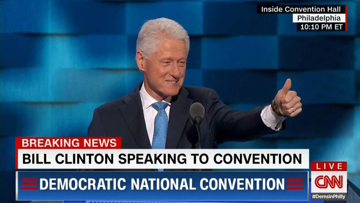 Bill Clinton opens DNC speech with 1971 tale of how he and Hillary met