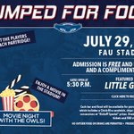 Tonight! Come see a movie and meet @CoachPartridge at FAU Stadium!   RSVP--->https://t.co/FIqAit0mfL https://t.co/z9MvAykiDy