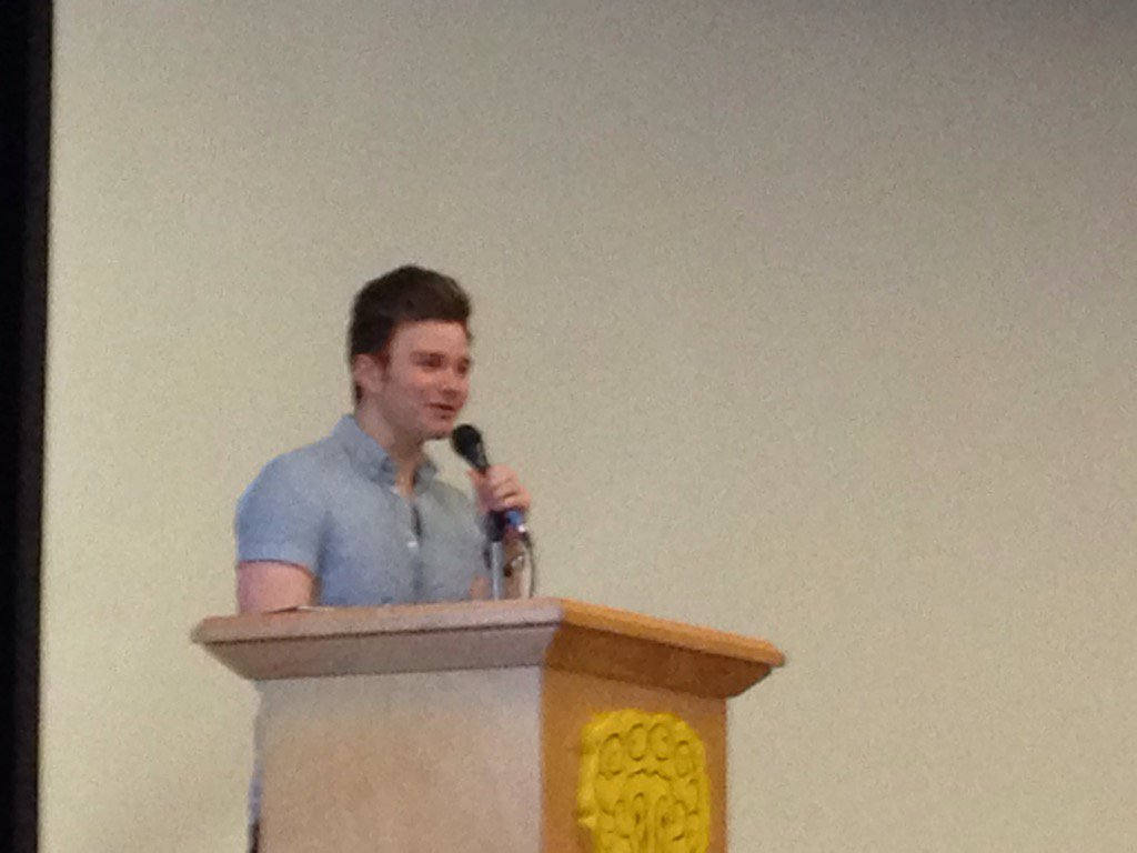 The truly delightful @chriscolfer charms the crowd. #TLOS5 https://t.co/bIKlDXhZpq