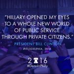 .@billclinton shares how @HillaryClinton influenced his outlook from the start #DemsinPhilly https://t.co/torSdqEwNd
