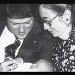 @ChelseaClinton was born right before midnight @billclinton #DemsInPhilly #DemConvention #ImWithHer @jacqui4peace https://t.co/7YPXwmbVkQ