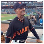 """Look who is the Giants """"Bat Dude""""!  Coach looks good in black and orange, but better in blue and gold! #icon #battle https://t.co/bSHS2YPjz1"""