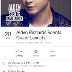 Alden Richards Scents Grand Launch. Bukas na! See you there. 😊 @aldenrichards02 #ALDUBAngKapalit https://t.co/Y6AxAfUQju