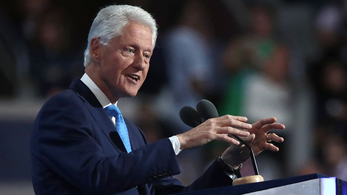 Bill Clinton ends speech with message to those