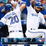 Devon Travis scores on wild pitch as #BlueJays rally to walk-off win over #Padres: https://t.co/o0ZIu1KgKo https://t.co/iL9t52OSrg