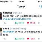 """Franse moslim: """"Als het nodig is komen we de kerken beschermen"""". Antwoord: """"en wij jullie moskeeën als het nodig is"""" https://t.co/jAdLU95D70"""