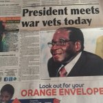 #Zimbabwe whatever President Mugabe says today when he meets war veterans will likely be controversial ...... https://t.co/gCBqgxzJ3F