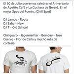 Entre todos los que den RT voy a regalar una camisa del aniversario. Tenemos de hombre y mujer. Sábado 30 CHILLSPOT. https://t.co/KDxtFrm53F