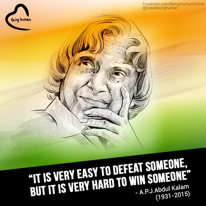 Remembering #APJAbdulKalam sir on his first death anniversary.  #BeingHuman https://t.co/aF1NRMsMRK