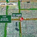 Crash on Bird Rd WB at SW 107th Ave #TRAFFIC #MIAMI https://t.co/56q9YqEKVz