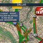 Accident - #Dallas - Right Shoulder Blocked - 75 NB near Knox-Henderson. #dfwtraffic #NBCDFWNow https://t.co/7JqtePzSjW