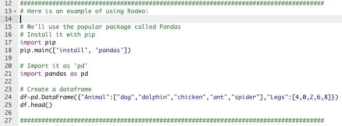 パッケージ インストールとコードが同時に書ける! ~ データ サイエンティスト のための新しい Python 環境 Rodeo / Watch & try out python new IDE for data scientist