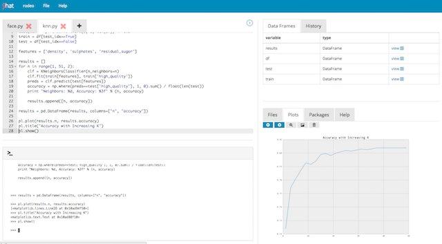学習曲線とコードとデータをキレイにまとめられる ~ データ サイエンティスト のための新しい Python 環境 Rodeo / Watch & try out python new IDE for data scientist