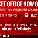 🎫 🎫 🎫 ☎ 01224 63 1903 (until 5.30pm)  🚶 Pittodrie Ticket Office (until 5.30pm) 💻 📱 https://t.co/9lrWykE6mD 24/7 https://t.co/lUtYNg0X3d