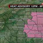 Heat Advisory from 12-8pm has expanded to cover Mecklenburg Co. Heat Index up to105 this afternoon says @KaitlinCody https://t.co/qjscXIG0gE