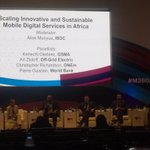 Panel discussion at #M360Africa now- Scaling innovative and sustainable Mobile digital services in Africa. https://t.co/EwVj5xJPg2
