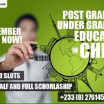 Under graduates and post graduates should grip this opportunity ASAP #studyinchina https://t.co/Rffyha1rQd