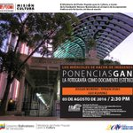 """#Ponencia """"La fotografía como documento estético"""" el 03 e agosto a las 2:30pm en la Galería de Arte Nacional https://t.co/zfh8zuUtFU"""