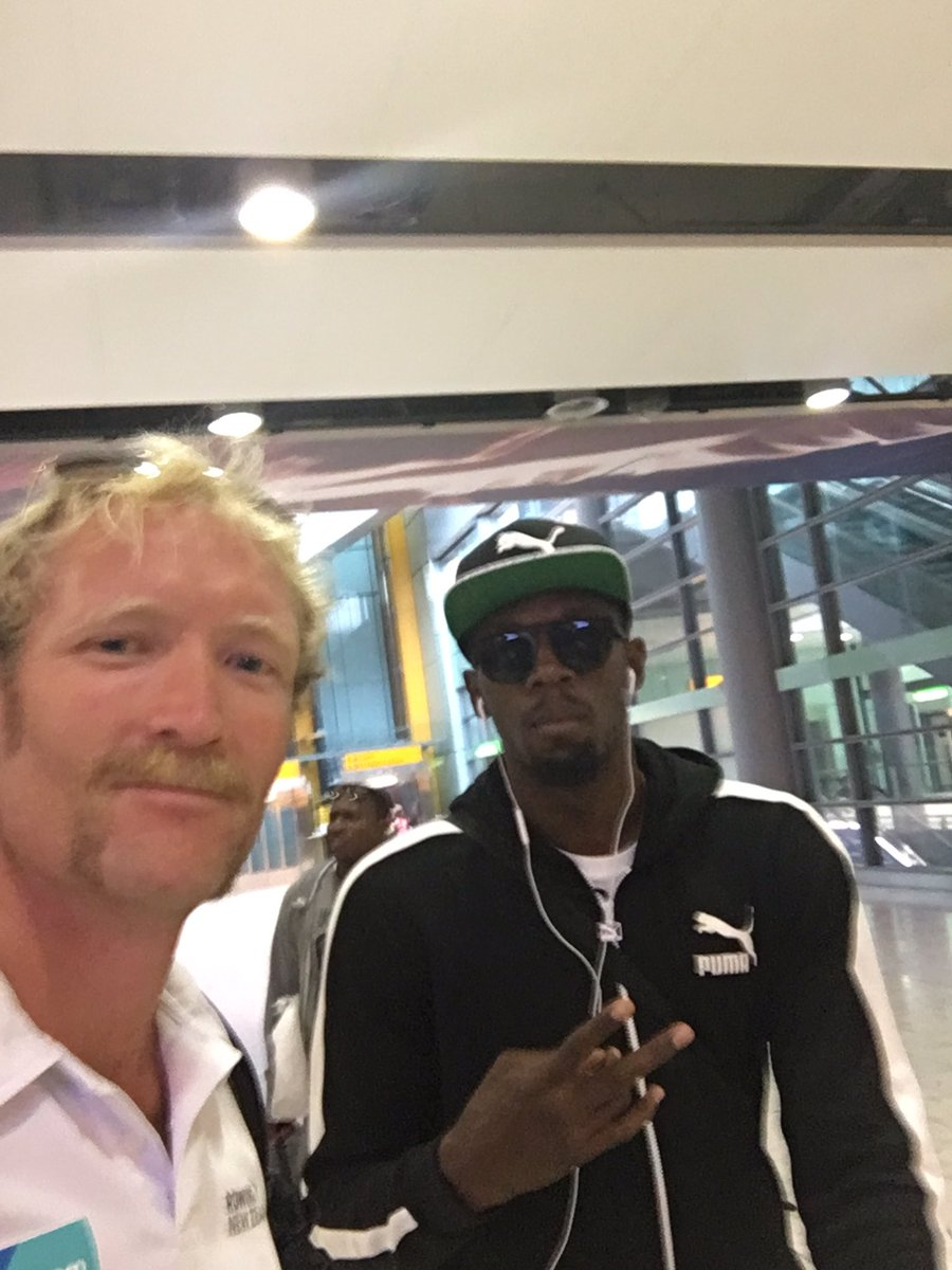 On the flight to @Rio2016_en with the man himself @usainbolt