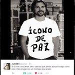 """Así amaneció hoy 27 de Julio de 2016 la imagen de @juanes en Colombia. """"Los enemigos de la PAZ no pasarán"""" https://t.co/zmVZTKl7fi"""