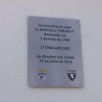 .@SLBenfica & @TorinoFC_1906 Eterna Amizade. #Juntos #CarregaBenfica https://t.co/hDS7ACFxRZ