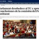 PARLAMENT CATALUNYA aprueba CONCLUSIONES de la comisión del PROCESO CONSTITUYENTE @dfensordlpueblo #NoriaPoliticaARV https://t.co/V52RylRSDX