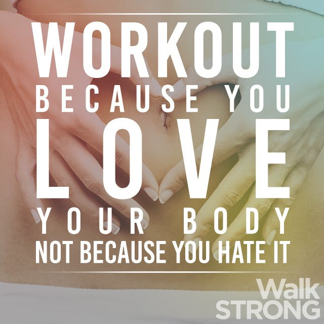 Work out because you love your body, not because you hate it. https://t.co/VuTVE7tpWU
